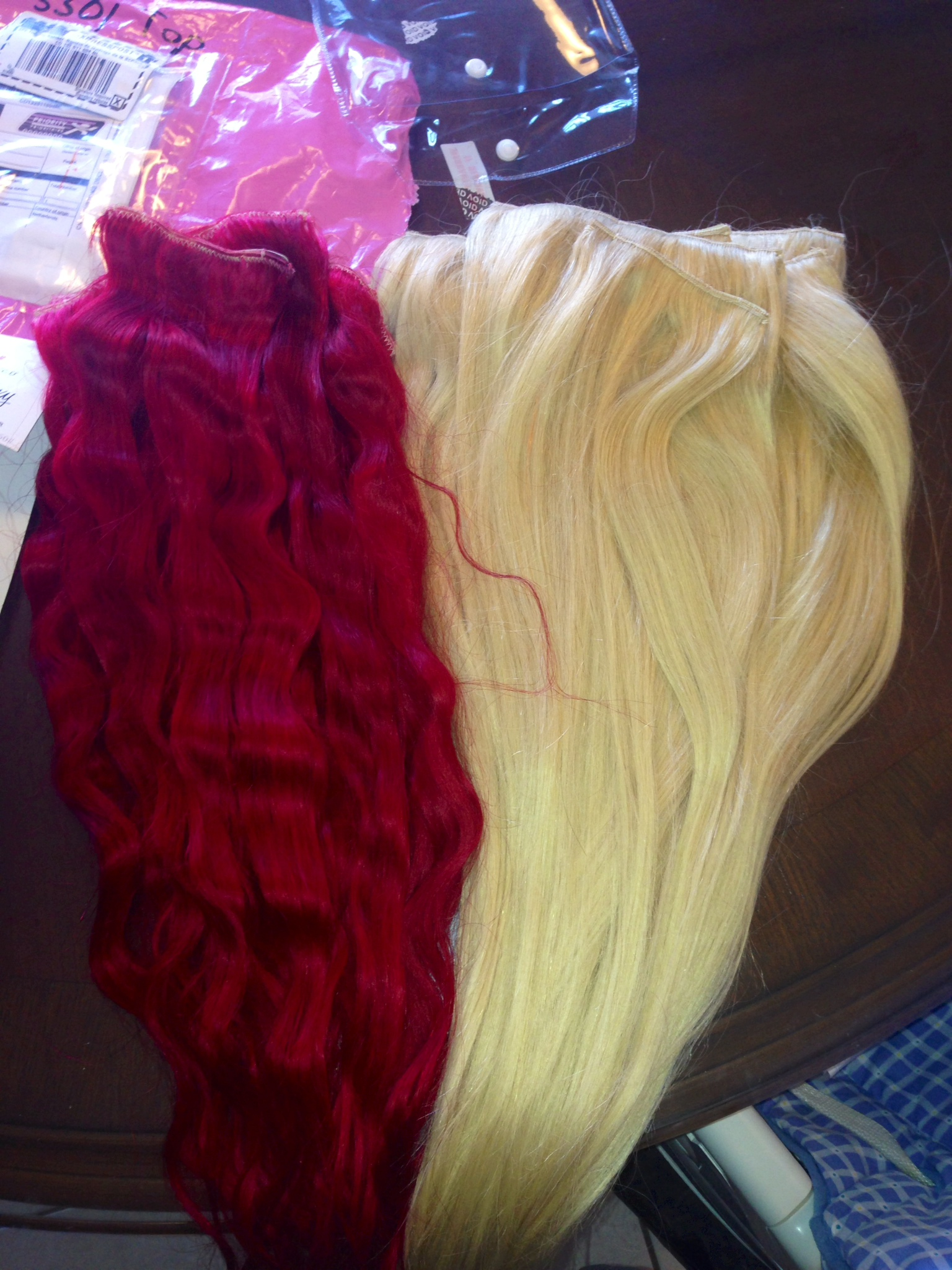 How To Dye Extensions Bright Red Flabs Of Steel
